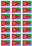 Eritrea Flag Stickers - 21 per sheet